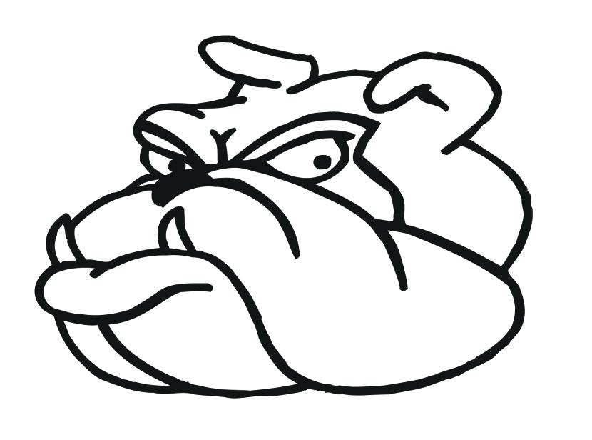 830x616 Bulldog Clipart Bulldog Face Fox Georgia Bulldog Clipart Free