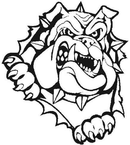 436x488 Bulldog Baseball Embroidery Bulldog Clipart