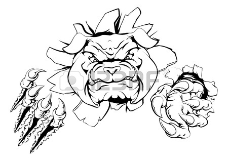 450x318 Tough Mean Muscular Bulldog Character Or Sports Mascot Ripping