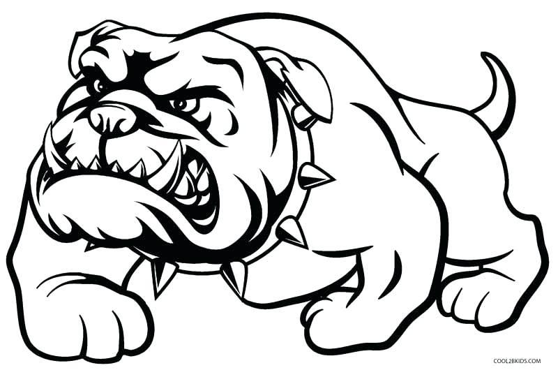 Cute Bulldog Face Outline