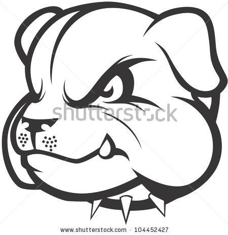 450x465 Drawn Bulldog Simple