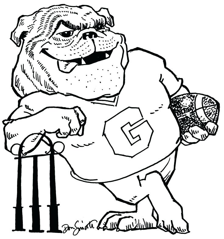 736x787 Georgia Bulldogs Coloring Pages 8313