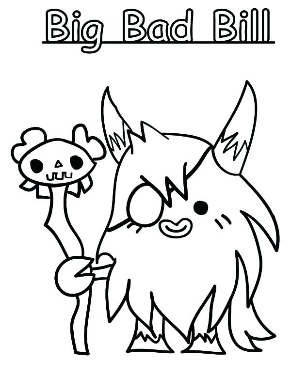 600x776 Little Bill Coloring Pages Bullet Bill Coloring Pages