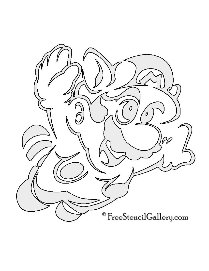 850x1100 Mario Raccoon Stencil Free Stencil Gallery