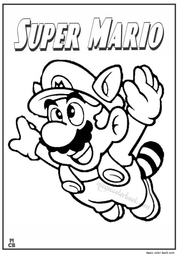 685x975 Super Mario Coloring Pages 07