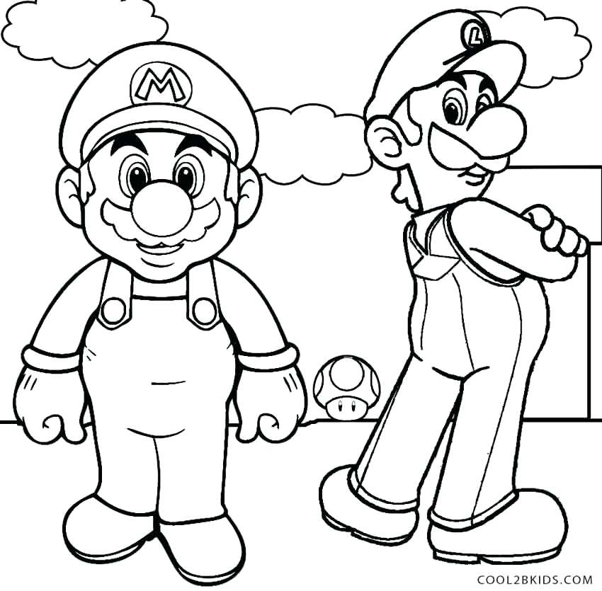 850x835 Unique Mario And Luigi Coloring Pages Kids Free Of Bullet Bill