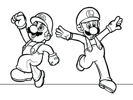 440x330 Super Mario Coloring Page Murs