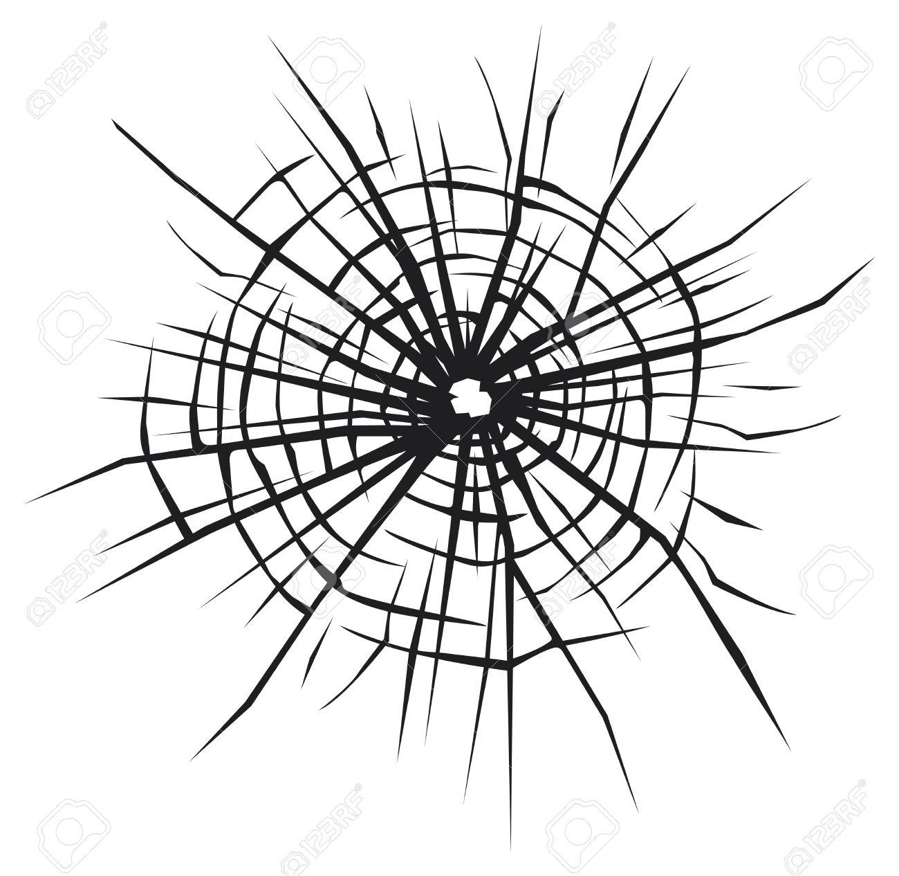 1300x1266 Broken Glass Vector Background Of Cracked Glass, Broken Glass