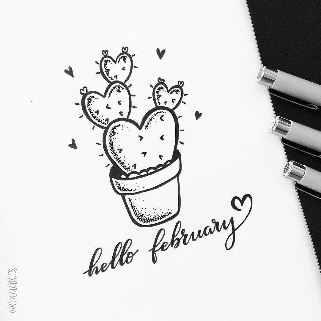 1080x1080 Hello February! Oraarts Hand Lettering February