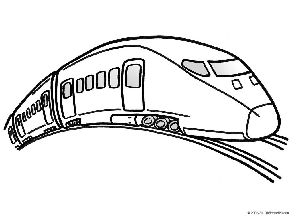 1024x759 How To Draw A Bullet Train Step By Step Trains Transportation Free
