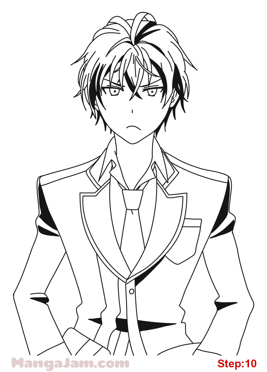 920x1280 How To Draw Rentaro Satomi From Black Bullet Step 10 Crafts