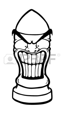 244x450 Angry Funny Bullets, Vector Illustration Royalty Free Cliparts