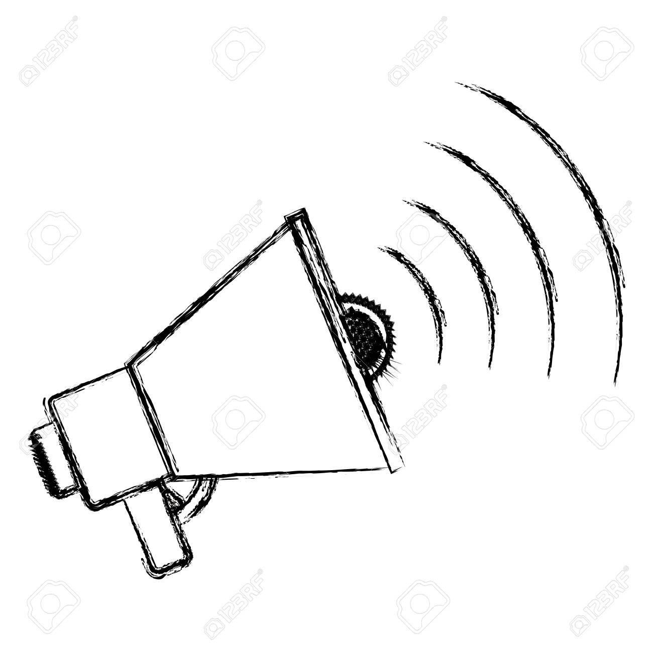 1300x1300 Megaphone Icon. Amplifer Speaker Bullhorn Announce And Speech