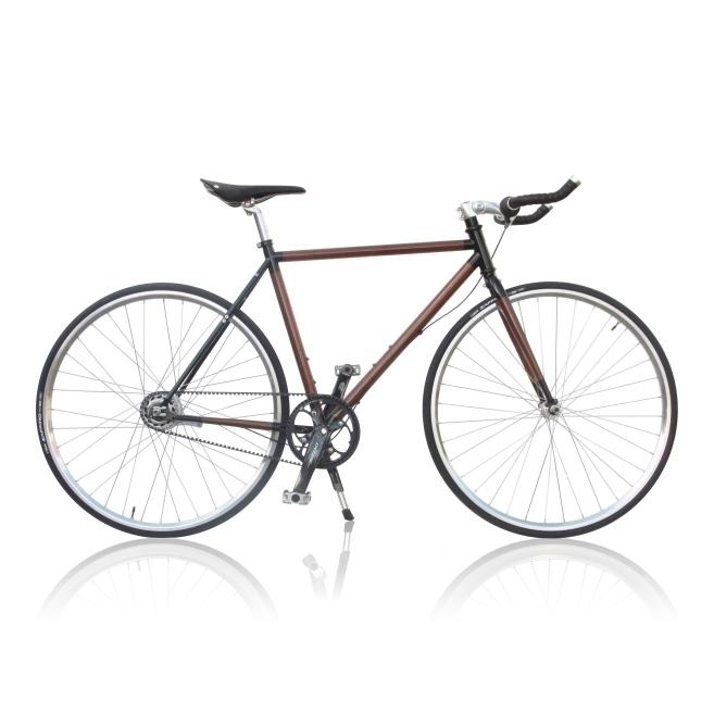 657x657 Rotterdam 8 Speed (Bullhorn Handlebar) Teak Bicycles Poelman