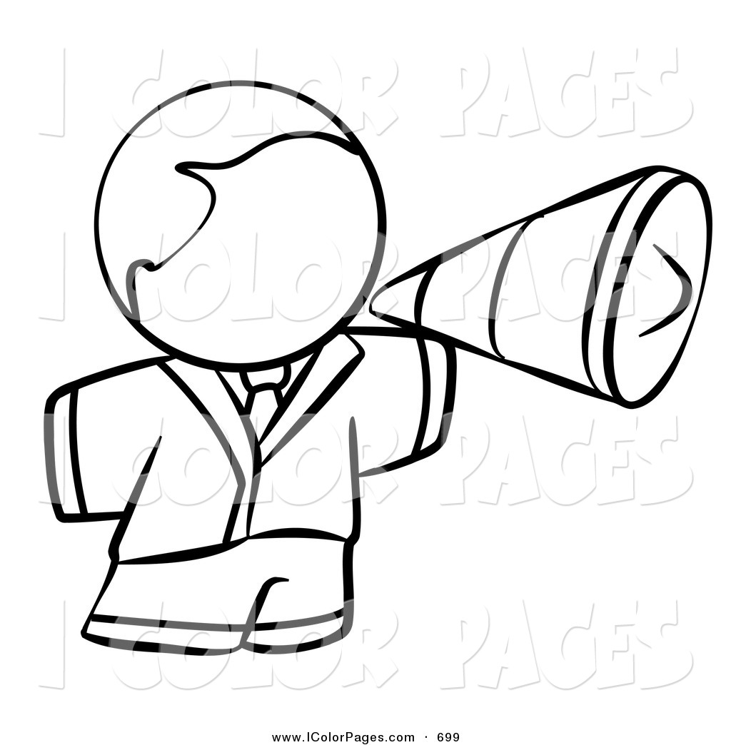 1024x1044 Royalty Free Bullhorn Stock Coloring Page Designs