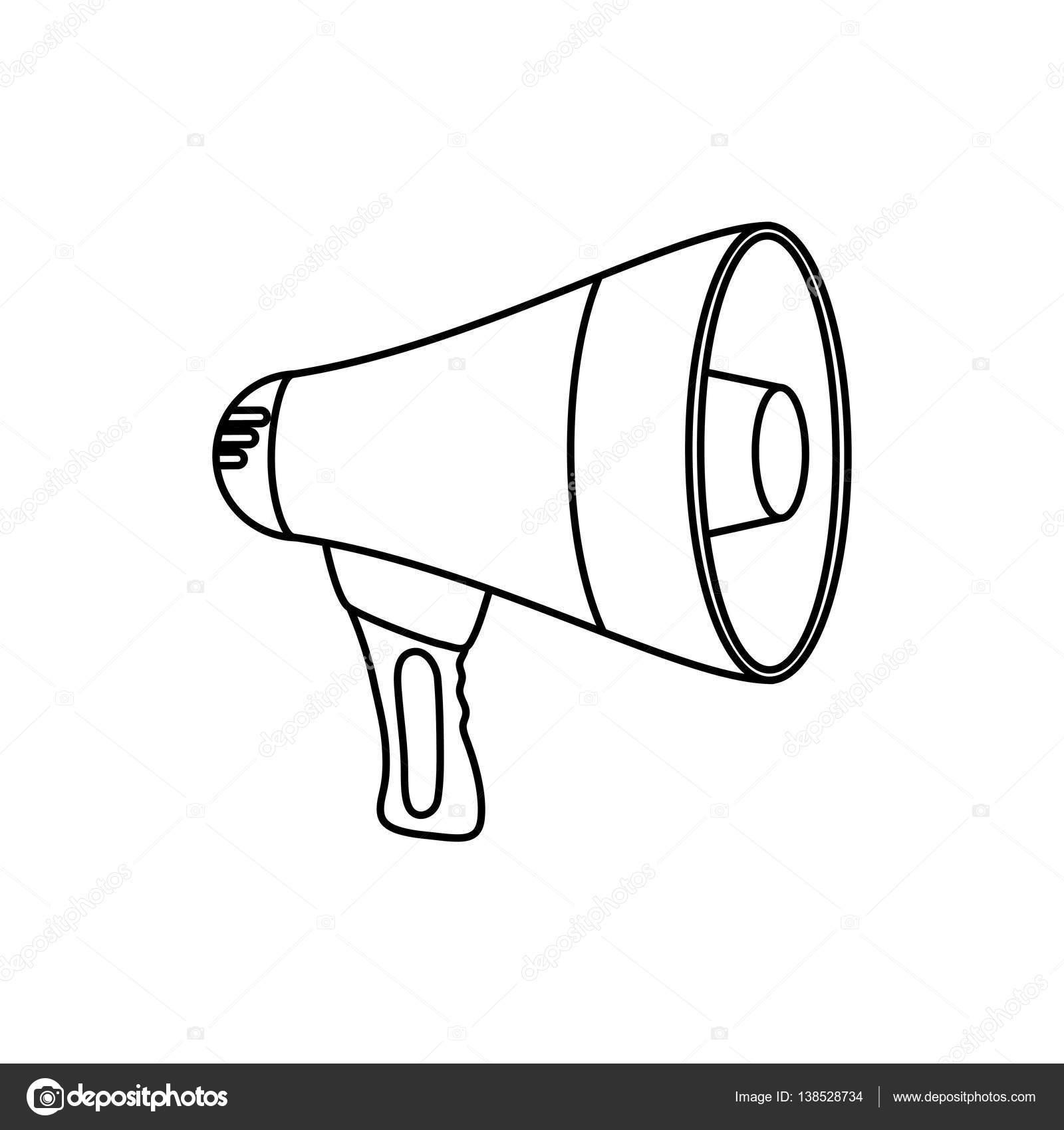 1600x1700 Bullhorn Advertising Symbol Stock Vector Djv