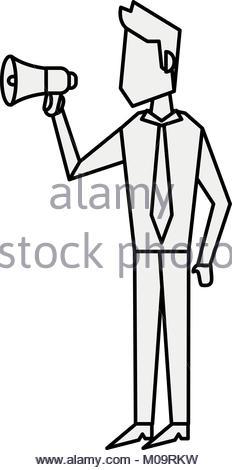 232x470 Businessman With Bullhorn Stock Vector Art Amp Illustration, Vector