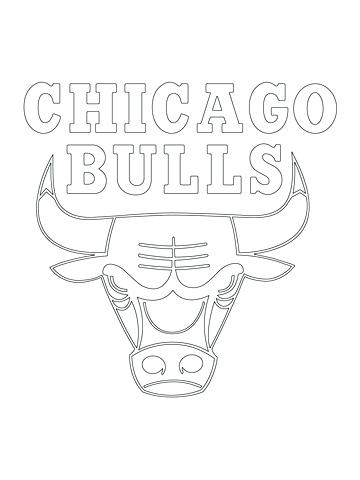 360x480 Chicago Bulls Coloring Pages Cool Coloring Pages Teams Logos Bulls