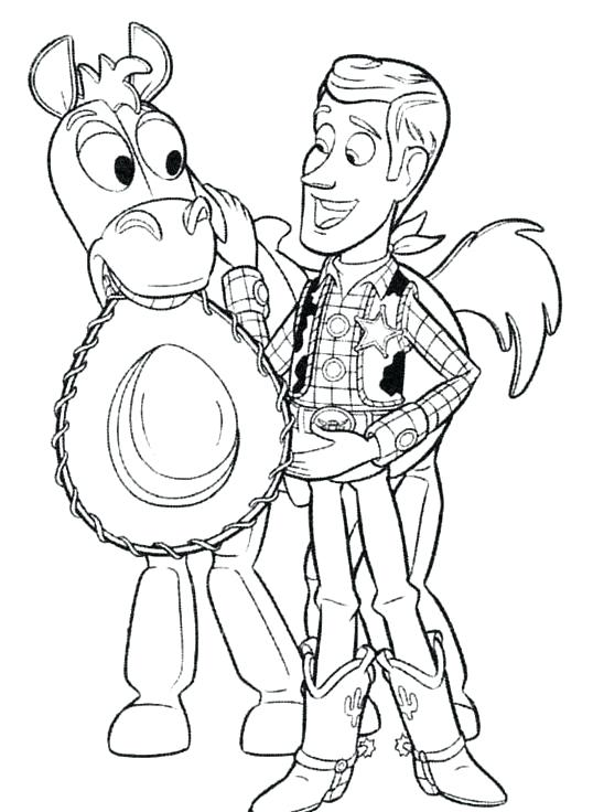 538x736 Toy Story Coloring Pages Toy Story Coloring Pages Bullseye A Toy