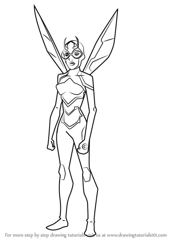 566x800 Learn How To Draw Bumblebee From Young Justice (Young Justice