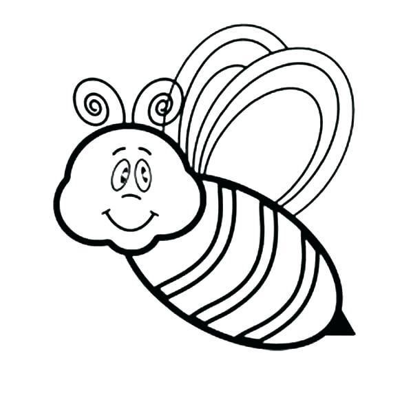 600x600 Bee Pictures To Color Bumble Bee Coloring Page Bumble Bee Coloring