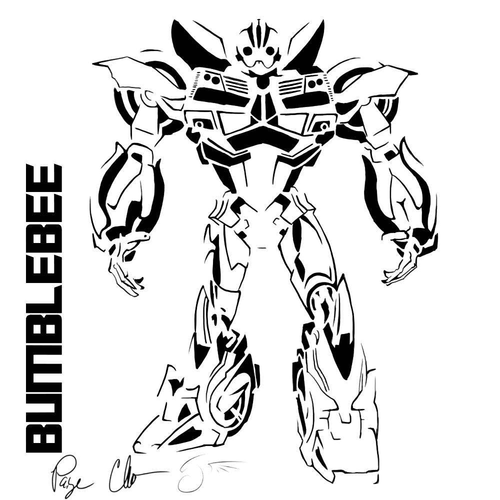 Bumblebee Drawing Transformers at GetDrawingscom Free for