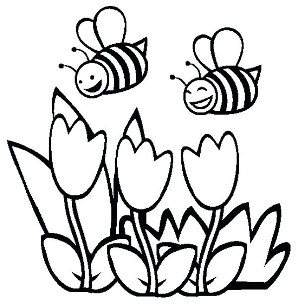 600x612 Bumblebee Coloring Pages Bumblebee Two Happy Bumblebee Flying Over