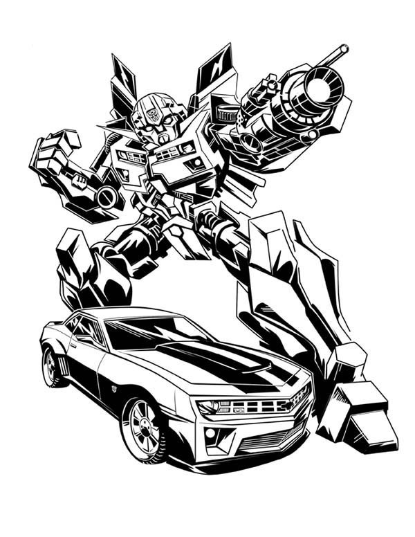 Bumblebee Transformer Drawing
