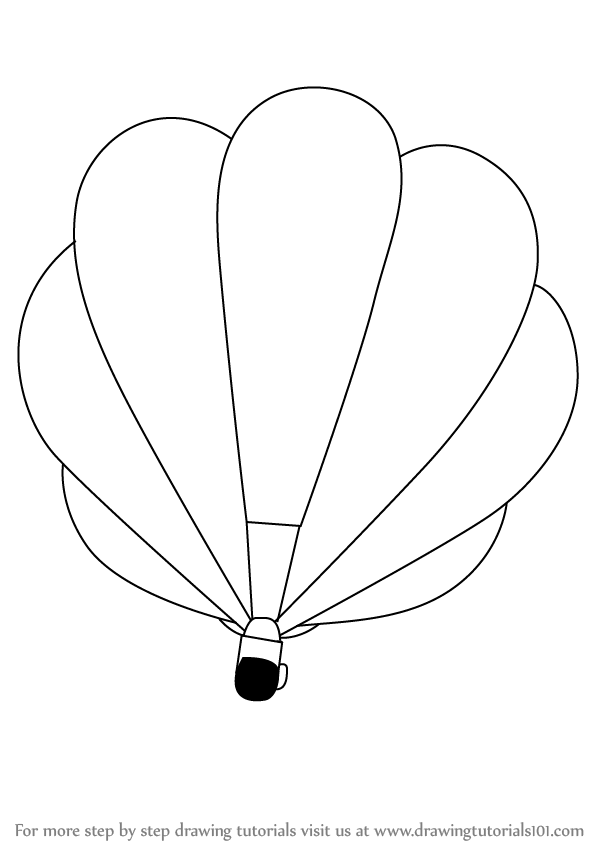 596x846 Learn How To Draw A Hot Air Balloon (Other) Step By Step Drawing