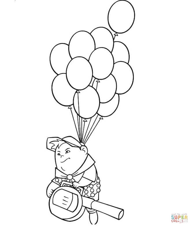 671x794 Russell On The Balloons Coloring Page Free Printable Pages