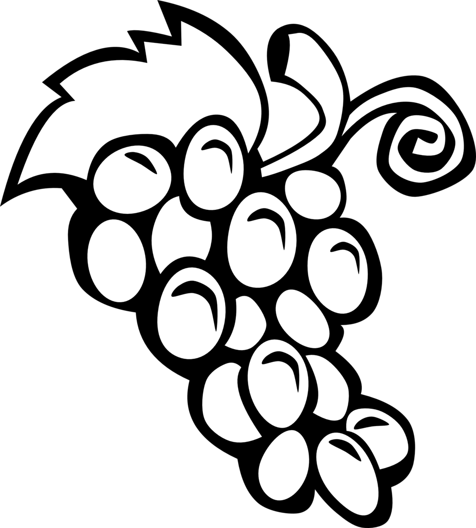 958x1062 Public Domain Clip Art Image Illustration Of A Bunch Of Grapes