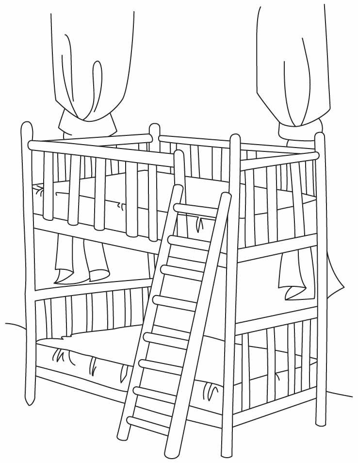 738x954 How To Draw Bunk Bed, Coloring Boys Bunk Beds