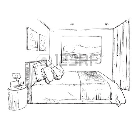 450x386 Kids Bunk Bed Doodle Style Sketch Illustration Royalty Free