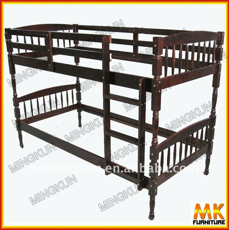 795x800 Russian Pine Bunk Bed With Poplar Plywood Slats