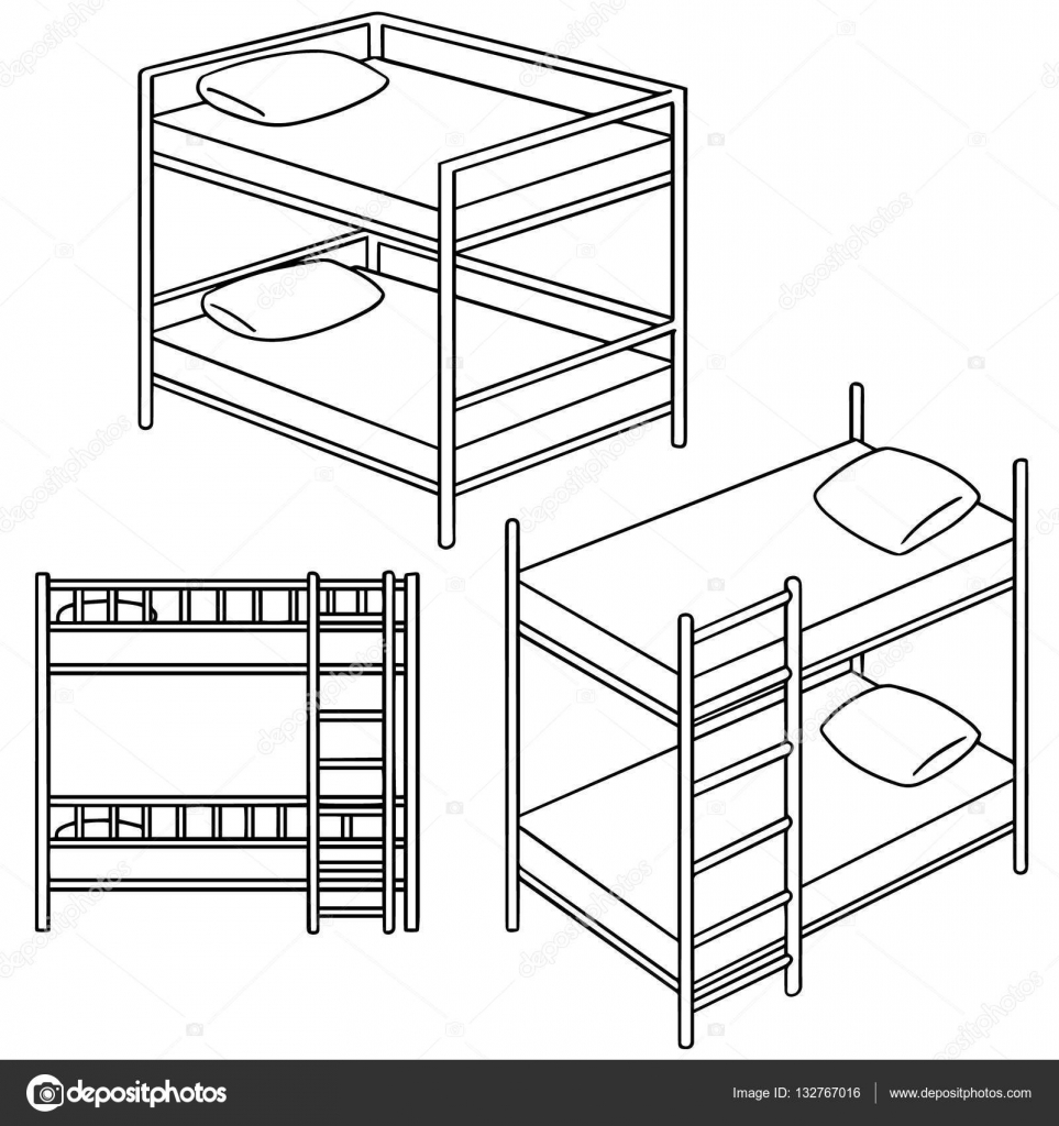 963x1024 Vector Set Of Bunk Bed Stock Vector Ourlifelooklikeballoon