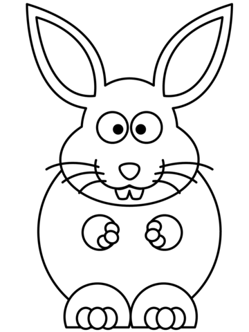360x480 Cartoon Bunny Coloring Page Free Printable Coloring Pages