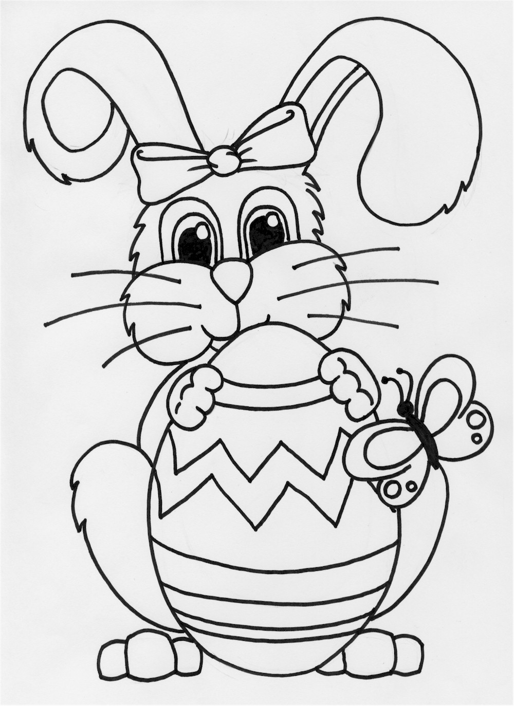 1000x1374 Easter Bunny Drawing