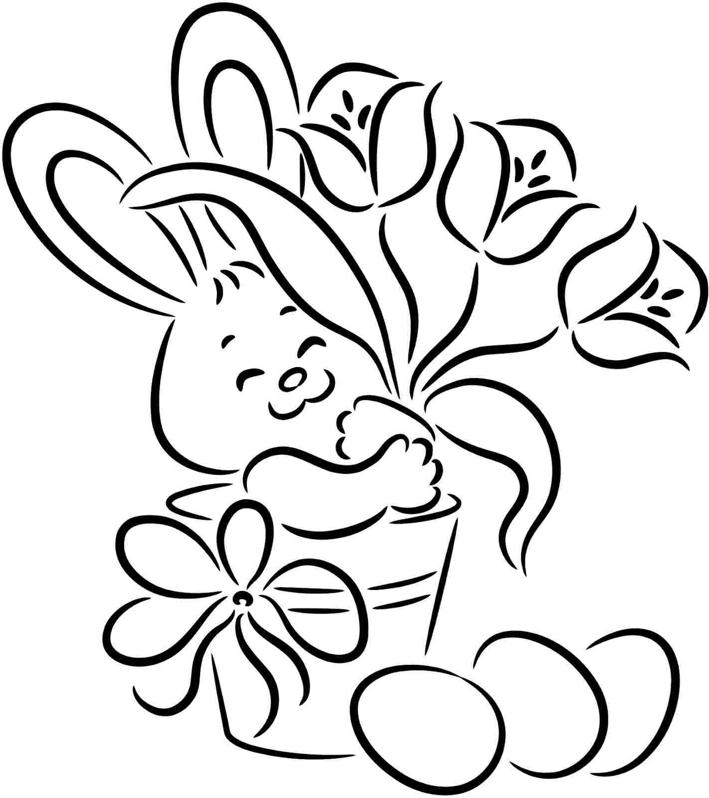 1422x1600 Simple Easter Bunny Drawing Easy Bunny Drawings For Kids Easter