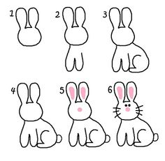 236x231 How To Draw A Rabbit Step By Step For Kids