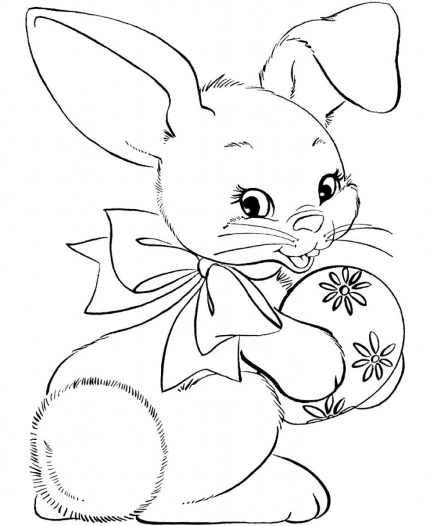 836x1024 Easter Bunny Drawing