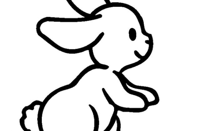 640x420 Easy Bunny Drawings Coloring Pages Drawing Of A Rabbit