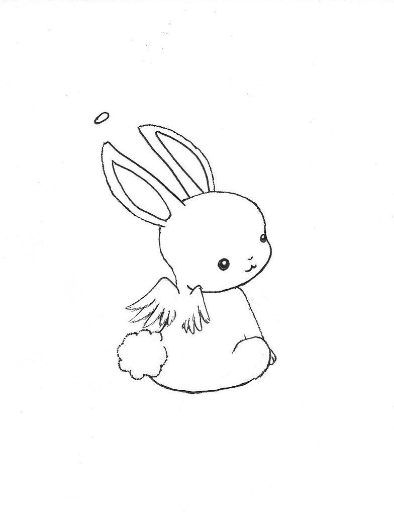 784x1018 Kawaii Animal Drawing Chibi Bunny Angel By ~escargotgirl