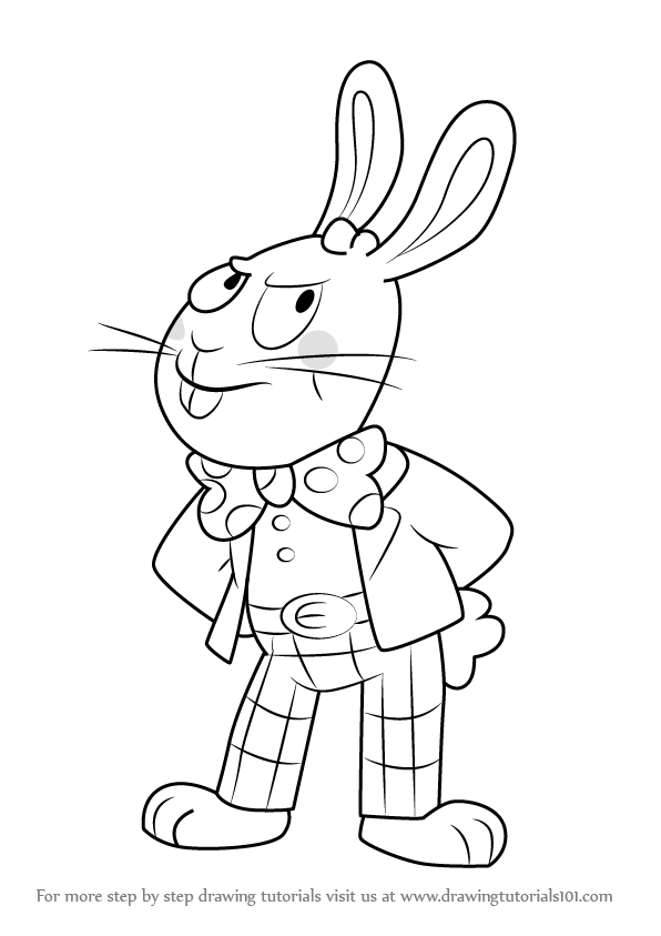 596x843 Learn How To Draw Easter Bunny From Uncle Grandpa (Uncle Grandpa
