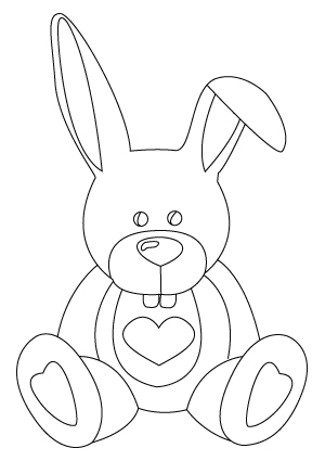 300x425 Valentine's Day Bunny Drawing Childrens Drawings