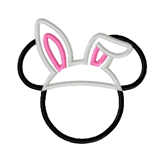 329x330 Mr Mouse Bunny Ears Applique