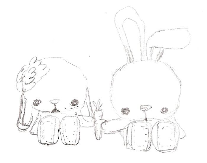 699x550 Spring Bunnies
