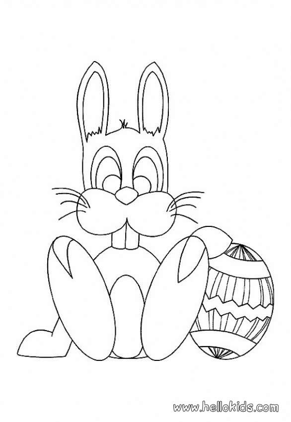 586x850 Bunny Ears And Chocolate Coloring Pages
