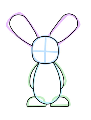 317x419 Drawn Cartoon Bunny