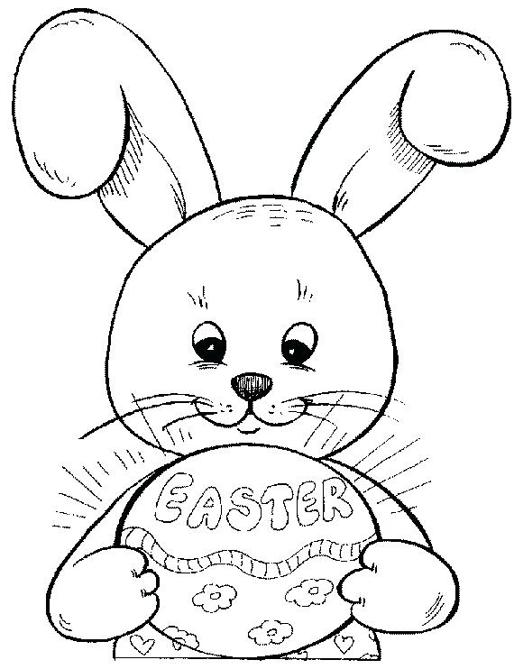 570x742 Easter Bunny And Eggs Coloring Pages Cute Bunny With Egg Coloring