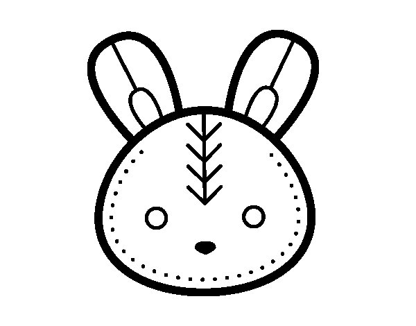600x470 Easter Bunny Face Coloring Page